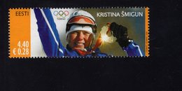 613846795 ESTLAND ESTONIA 2006 ** MNH  SCOTT  538 539 GOLD MEDALISTS AT 2006 WINTER OLYMPICS - Estonie