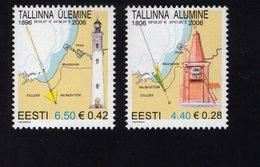 613847368 ESTLAND ESTONIA 2006 ** MNH  SCOTT  541 542 LIGHTHOUSES - Estonie