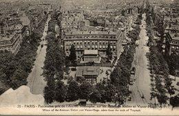 PARIS PANORAMA PRIS DE L ARC DE TRIOMPHE SUR LES AVENUES KLEBER ET VICTO HUGO - Arc De Triomphe