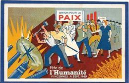 CPSM Parti Communiste Fête De L'humanité 1949 Vincennes Non Circulé - Partis Politiques & élections