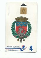 Carte De Parking MAIRIE DE PARIS Avec Puce Blason De Paris - Other