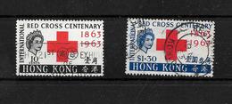 Hong Kong QEII 1963 Red Cross Centenary Full Set Used (6682) - Hong Kong (...-1997)