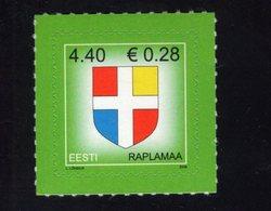 613850542 ESTLAND ESTONIA 2006 ** MNH  SCOTT 552 COUNTY ARMS RAPLAMAA - Estonie