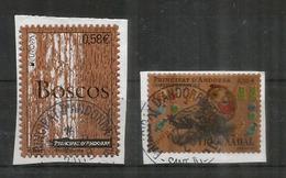 Wood Stamps Andorra. Timbres En Bois (Liège) , Oblitérés Sur Fragments Lettres, 1 ère Qualité - Trees
