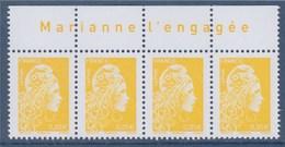 = Marianne L'Engagée 2018 Bloc De 4 Haut De Feuille 0.01€ N°5248 Avec Le Texte Marianne L'Engagée Neuf Type Gommé - 2018-... Marianne L'Engagée