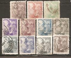 España/Spain-(usado) - Edifil  919-25, 927, 929-30, 932 - Yvert  677-83, 684, 686-87, 688 (o) - 1931-50 Gebraucht