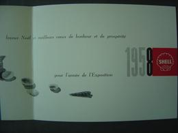 Carte De Voeux - EXPO 58 - Bruxelles -  Shell - Publicités