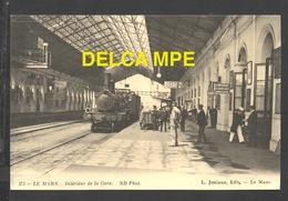DF / CHEMINS DE FER / LE MANS / TRAIN À QUAI DANS LA GARE / ANIMÉE - Stations With Trains