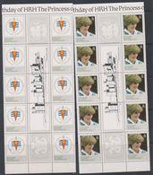 Falkland Islands Dependencies 1982 Princess Diana 4v Strip 5x Gutter ** Mnh (F7294) - Zuid-Georgia