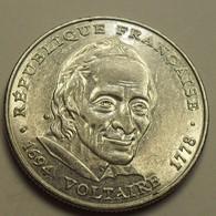 1994 - France - 5 FRANCS, Voltaire, KM 1063, Gad 775 - Commémoratives