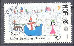 Saint Pierre Et Miquelon: Yvert N° 512°; Noël, Dessin D'enfant - St.Pierre & Miquelon