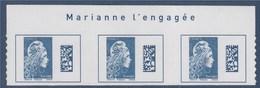 = Marianne L'Engagée 2018 Bloc X3 Haut De Feuille Europe N°1603 Avec La Mention Marianne L'Engagée Neuf Type Adhésif - 2018-... Marianne L'Engagée