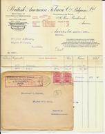 """ANVERS  British American Tobacco Co """" Belgium Ltd """"  1922 + Cover - Belgium"""