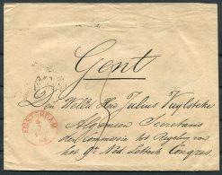 1866 Netherlands Amsterdam Cover - Gand Congress, Belgium. - Period 1852-1890 (Willem III)