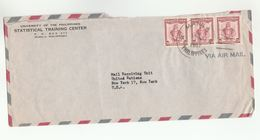 1957 PHILIPPINES  To UN NY USA  Airmail STATISTICAL TRAINING CENTER MANILA To United Nations COVER Stamps Statsticsi - Philippines