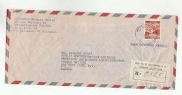 1956 Registered EL SALVADOR To UN NY USA Cover Airmail  United Nations Stamps - El Salvador