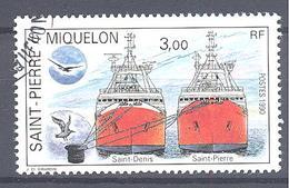 Saint Pierre Et Miquelon: Yvert N° 528° ; Bateau - St.Pierre & Miquelon