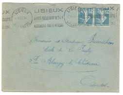 5566 - LISIEUX - Poststempel (Briefe)