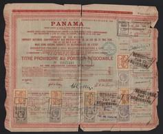 Titre Au Porteur Actions Obligation Emprunt Cie Compagnie Universelle Du Canal Interocéanique De PANAMA 1889 - Navy