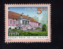 613862089 ESTLAND ESTONIA 2007 ** MNH  SCOTT 562 MANOR SAGADI HALL - Estonie