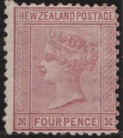 NZ    .     SG   .    155   .    Watermark  NZ And Small Star  Wide Apart      .    (*)   .    No  Gum  . / Geen Gom - 1855-1907 Crown Colony