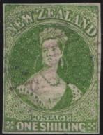 NZ    .     SG   .   4   .   Large Star    Blue Paper  ( 2 Scans)   .    O   .    Cancelled  .   /   .   Gebruikt - 1855-1907 Kolonie Van De Kroon