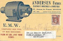 CPA / AK / PK   -  ANVERS  Andersen Frères Electricité Industrielle Et Domestique - Electricity & Gas