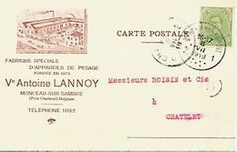 CPA / AK / PK   - MONCEAU Sur SAMBRE  Ve Antoine Lannoy  ( Appareil De Pesage ) - Belgium