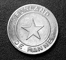 """Jeton De Jeu """"Funland - De Panne / La Panne"""" Belgique - Jeton Casino - Casino"""