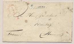 Nederland - 1845 - Complete Vouwbrief Van WINSCHOTEN FRANCO Via Leer Naar Hannover / Deutschland - Niederlande