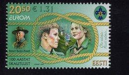 613864606 ESTLAND ESTONIA 2007 ** MNH  SCOTT 568 EUROPA SCOUTING CENT - Estonie