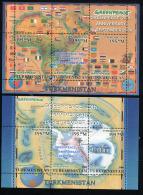 2000, GREENPEACE 29th Anniversary, DRAPEAUX, CARTES, 6 Valeurs En 2 Feuillets, Neufs / Mint. Rtur1203 - Vignettes De Fantaisie