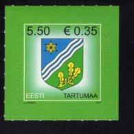 613866772 ESTLAND ESTONIA 2007 ** MNH  SCOTT 573 COUNTRY ARMS TARTUMAA - Estonie