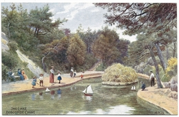 The Lake Boscombe Chine By A R Quinton - Unused C1915 - J Salmon 929 - Quinton, AR