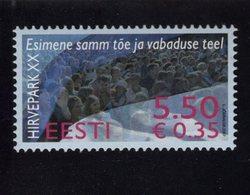 613868395 ESTLAND ESTONIA 2007 ** MNH  SCOTT 576 HIRVEPARK DEMONSTRATION 20TH ANNIV - Estonie