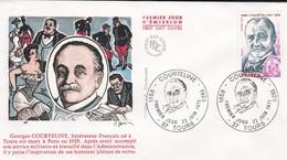 37----TOURS---Premier Jour 23-Juin 1979--Georges COURTELINE--littérateur Français Né à Tours Est Mort ...---voir 2 Scans - FDC