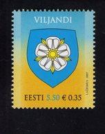 613869943 ESTLAND ESTONIA 2007 ** MNH  SCOTT 580 ARMS OF VILJANDI - Estonie