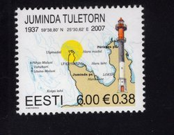 613870207 ESTLAND ESTONIA 2007 ** MNH  SCOTT 564 LIGHTHOUSE - Estonie