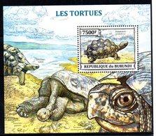 Serie De De Tortugas + Hb De Tortugas  De Burundi 2013 - Tortues