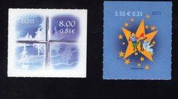 613870474 ESTLAND ESTONIA 2007 ** MNH  SCOTT 581 582 CHRISTMAS - Estonie
