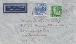 Netherland Indies Cover, Sc#170 5c & #181 40c Queen Wilhelmina Issues 1940 Sent To Los Angeles California - Netherlands Indies