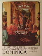 Dominica  1989 Christmas S/S - Dominica (1978-...)