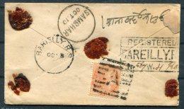 India Registered Stationery Cover. Bareilly Barielly R.S. Sambhar - India (...-1947)