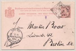 Nederlands Indië - 1893 - 7,5+7,5 Cent Briefkaart G13, Echt Gebruikt Van Semarang Naar Berlin / Deutschland - Nederlands-Indië