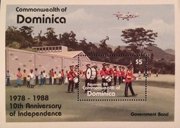 Dominica  1988 10th. Anniv. Of Independence S/S - Dominica (1978-...)