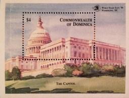 "Dominica  1989 World Stamp Expo ""89 S/S - Dominica (1978-...)"