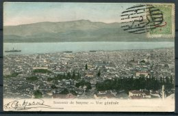 1907 Smyrne Postcard - Bernerie France. Belice Discount Turkish Post Office, Oval Obliterator. - 1837-1914 Smyrna