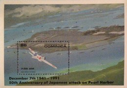 Dominica  1991 Japanese Attack On Pearl Harbor,50th .Anniv. S/S POSTAGE FEE TO BE ADDED ON ALL ITEMS - Dominica (1978-...)