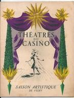 Programme Théâtres Du Casino Vichy 1947 Petrouchka Strawinsky Salomé Richard Strauss Grand Ballet Monte Carlo - Programs
