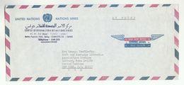 UN In TUNISIA Via DIPLOMATIC BAG 'Pouch' TUNIS UNIC To UN NY USA United Nations Cover - Tunisia